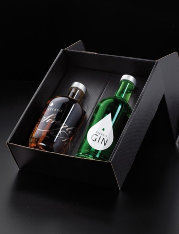 Geschenkbox Single Malt 0,35l und London Dry Gin 0,35l